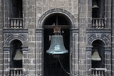 Bell Tower at the Metropolitan Cathedral, Zocalo, Mexico City, Mexico Photographic Print by Brent Bergherm
