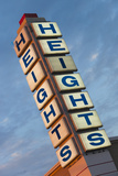The Heights, Popular Neighborhood Sign, Little Rock, Arkansas, USA Fotodruck von Walter Bibikow