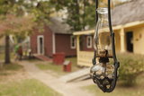 Late 19th Century Oil Lamp, Adams Corner Rural Village, Oklahoma, USA Photographic Print by Walter Bibikow