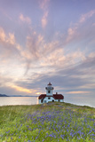 Sunset on Patos Island Lighthouse, San Juan Islands, Washington, USA Photographic Print by  Jaynes Gallery