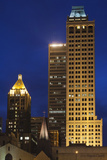 High-Rise Buildings, Art-Deco District at Dusk, Tulsa, Oklahoma, USA Photographic Print by Walter Bibikow
