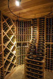 Bottle Cellar at Walla Walla Winery, Walla Walla, Washington, USA Photographic Print by Richard Duval