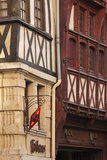 Half-Timbered Building on Rue Du Gros Horloge, Rouen, Normandy, France Photographic Print by Walter Bibikow