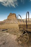 Pioneer Wagon Train Replica, Scottsbluff, Nebraska, USA Fotografie-Druck von Walter Bibikow