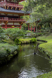 Byodo-In Buddhist Temple and Garden, Kaneohe, Oahu, Hawaii, USA Photographic Print by Charles Crust