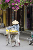 Local Woman in Conical Hat with Bike, Hoi An, Da Nang, Vietnam Photographic Print by Cindy Miller Hopkins