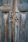 Door and Handle Detail, San Cristobal De Las Casas, Chiapas, Mexico Photographic Print by Brent Bergherm
