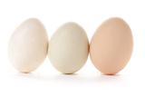 Three Eggs on White Background Lámina fotográfica por Matt Freedman