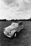 Citroen 2CV, Black and White Picture Photographic Print by Walter Bibikow