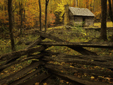 Cole Cabin, Great Smoky Mountains National Park, Tennessee, USA Photographic Print by Jerry Ginsberg