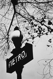 Sign for the Metro Subway, Paris, France Photographic Print by Walter Bibikow