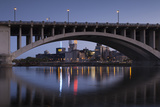 Third Ave, Bridge and Mill City, Stpaul, Minneapolis, Minnesota, USA Photographic Print by Walter Bibikow