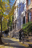 Couple on Leroy Street in Greenwich Village, Manhattan, New York, USA Photographic Print by Peter Bennett