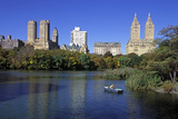 The Lake in Central Park, Manhattan, New York, USA Photographic Print by Peter Bennett