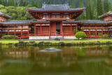 Byodo-In Buddhist Temple, Kaneohe, Oahu, Hawaii, USA Photographic Print by Charles Crust