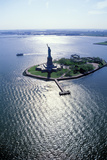 Aerial View of Statue of Liberty, Liberty State Park, New York, USA Photographic Print by Peter Bennett