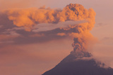 Ash Could over the Tungurahua Volcano, Andes, Ecuador Photographic Print by Pete Oxford