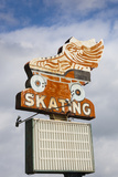 Flying Skate Sign, Sapulpa, Oklahoma, USA Photographic Print by Walter Bibikow