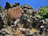 She Who Watches, Tsagaglalal Petroglyph, Washington, USA Photographic Print by  Jaynes Gallery