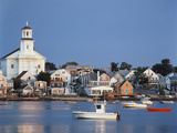 Provincetown Harbor and Town, Cape, Cod, Massachusetts, USA Photographic Print by Walter Bibikow