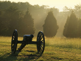 Cannon in Fog, Manassas National Battlefield Park, Virginia, USA Photographic Print by Charles Gurche