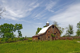 Old Red Barn, Kansas, USA Photographic Print by Michael Scheufler