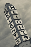 The Heights, Popular Neighborhood Sign, Little Rock, Arkansas, USA Photographic Print by Walter Bibikow