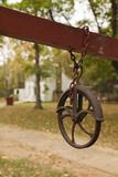 Well Pulley, Adams Corner Rural Village, Oklahoma, USA Photographic Print by Walter Bibikow