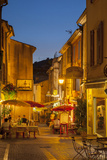 Evening Relaxing at Cafes in Greoux-Les-Bains, Provence, France Fotodruck von Brian Jannsen