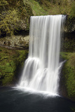 Upper South Falls at Silver Falls State Park, Oregon, USA Photographic Print by Michel Hersen
