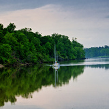 Sailboat Sailing Down the Tombigbee River in Mississippi, USA Photographic Print by Joe Restuccia III