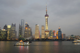 Sightseeing Dinner Boat on River, Shanghai, China Lámina fotográfica por Cindy Miller Hopkins