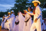 Dancers Entertain a Crowd, Central, Chiapa De Corzo, Chiapas, Mexico Photographic Print by Brent Bergherm