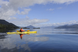 Sea Kayaker in Canal Jacaf, Chonos Archipelago, Aysen, Chile Photographic Print by Fredrik Norrsell