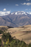Nevado Del Chicon Mountains Above Sacred Valley, Peru Photographic Print by John & Lisa Merrill
