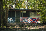 Flagged Cabin, Atchafalaya Basin Area, Louisiana, USA Photographic Print by Alison Jones