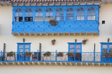 Blue Balcony and Wrought Iron Railings, Cuzco, Peru Photographic Print by John & Lisa Merrill