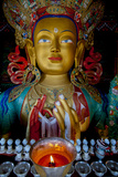 Maitreya Buddha at Thiksey Monastery, Leh, Ledakh, India Photographic Print by Ellen Clark