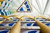 Abstract of Pillars at Burj Al Arab, Dubai, United Arab Emirates Photographic Print by Bill Bachmann