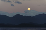 Moon Rise over Isla Traiquen, Archipelago De Los Chonos, Aysen, Chile Photographic Print by Fredrik Norrsell
