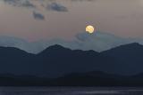 Moon Rise over Isla Traiquen, Archipelago De Los Chonos, Aysen, Chile Photographic Print by Fredrik Norrsell