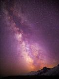 Milky Way (Constellation Sagittarius), Mt Rainier NP, Washington, USA Photographic Print by Gary Luhm