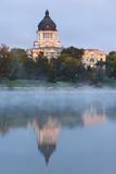 South Dakota State Capitol Exterior at Dawn, Pierre, South Dakota, USA Photographic Print by Walter Bibikow
