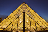 Glass Pyramids Outside Musee Du Louvre at Twilight, Paris, France Photographic Print by Brian Jannsen