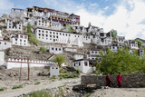 Monks Standing in Front of the Thiksey Monastery, Leh, Ledakh, India Photographic Print by Ellen Clark