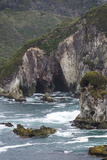 Cliffs and Sea Stacks Along Coast of Chiloe, Region Los Lagos, Chile Photographic Print by Fredrik Norrsell