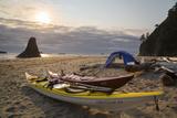 Camping on Beach at Cedar Creek, Olympic NP, Washington, USA Photographic Print by Gary Luhm