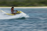 Jet Ski Activities on the West Side of Isla Cozumel, Mexico Photographic Print by Michel Benoy Westmorland