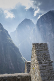 Machu Picchu Stone Walls with Mountains Beyond, Peru Photographic Print by John & Lisa Merrill
