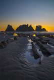 Sunset at Point of Arches, Olympic National Park, Washington, USA Photographic Print by Gary Luhm